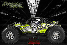 "AXIAL YETI MONSTER BUGGY XL WRAP GRAPHICS ""GEAR HEAD"" FITS OEM BODY PARTS 1/8"