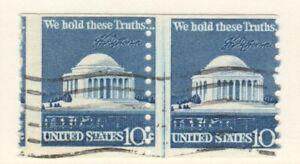 US EFO Scott #1520 10c Washington Monumnet Misperf Pair!
