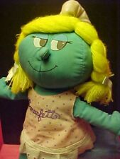 "Vintage Peyo Plush Smurfette 11"" & Embroidered Dress With Her Name 1983"