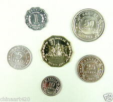 Belize coins set of 6 pieces UNC