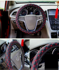 New DIY Plush Car Steering Wheel Cover black & red hubs fur wheel cover 38CM