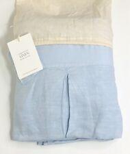 Restoration Hardware Garment-Dyed Linen Bed Skirt King Sky Blue NEW $259