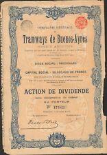 TRAMWAYS DE BUENOS-AYRES (ARGENTINE BELGIQUE) (G)