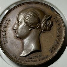 Modern French Napoleon III Eugenie Imperatrice Bronze Medal ~ Lettered Edge