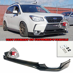 STI-Style Front Lip (Urethane) Fits 14-18 Subaru Forester XT Premium Touring