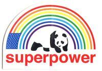 Enjoi Superpower Skateboard Sticker - rainbow panda skate board sk8 skate surf