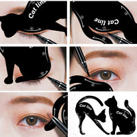 2PCS Women Cat Line Pro Eyes Makeup Tool Eyeliner Stencils Template Shaper Model
