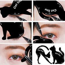 2pcs Mujer Gato Línea pro Ojos Maquillaje Tool Eyeliner Plantillas Faja Modelo