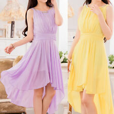 Boat Neck Party Patternless Dresses for Women