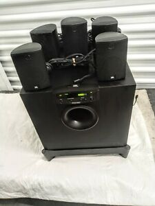 JBL Simply Cinema SUB300 Professional Home Theater Subwoofer with 5 Satellites.