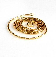 Chain Necklace Spring Ring Men Unisex 24K Yellow Gold Plated 45cm Quality Rod