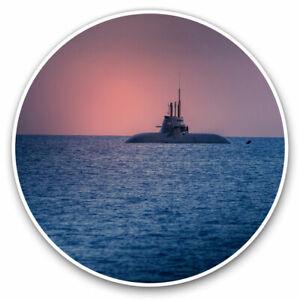 2 x Vinyl Stickers 20cm - Submarine Boat Sea Sunset Battle War Cool Gift #24269