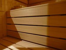 Saunabank Sauna Saunaliege Liege Bank Holz Abachi Saunabau Zwischenbank 125 cm