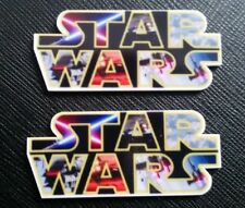 2 x Star Wars Logo The Force Awakens Planar Flatback Resin Flat Back Hair Resins