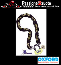 catena antifurto maxi scooter moto Oxford boss 1,0m chain con lucchetto