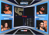 TNA Mexican America 2011 Signature Impact BLUE Quad Relic Card SN 1 of 25