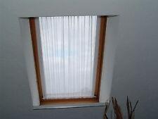 wei�Ÿe Scheibengardinen 100cm Spanngardine 98cm hoch Dachfenster  Gardinen