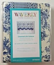 NEW WAVERLY CHARMED HOME CLASSICS LIFE CORNFLOWER BLUE LAYERED SCALLOPED VALANCE