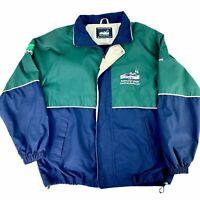 Kentucky Derby Official VIP Polyester Jacket 128th 2002 Mens  Medium Blue Green