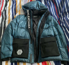 Men's Balenciaga Puffer Hooded Jacket Size Large