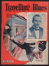 Travelling Blues 1924 Ted Weems Sheet Music