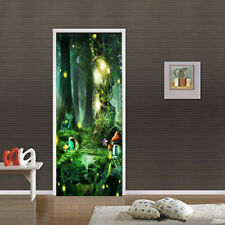 3D Self-Adhesive Fantasy Forest Bedroom Door Murals Wall Sticker Wallpaper Decal