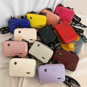 Nano Carry-On Purse Mini Hard Suitcase Cosmetic Case Crossbody Handbag for Women