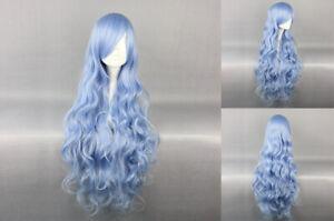 Ladieshair Cosplay Perücke blau 90cm wellig DATE A LIVE Cosplay Halloween A7T
