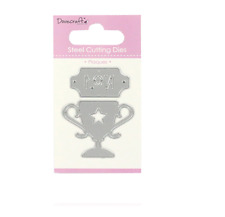 NO.1 PLAQUE & TROPHY - Dovecraft Cutting Dies - CARD MAKING/SCRAP BOOKING