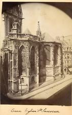 France, Caen, Eglise St. Sauveur  Vintage albumen print.  Tirage albuminé  1