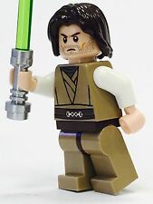 LEGO STAR WARS JEDI 100% LEGO CUSTOM BROWN HAIR NEW JEDI KNIGHT ARMY BUILDER