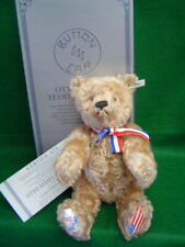 STEIFF Otto Teddy Bear 16 inches dark blonde curly mohair USA Limited Edition
