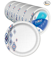 """Dixie Everyday Paper Plates 10 1/16"""" Plate 220 Count 5 Packs of 44 Dinner Plates"""