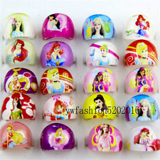 Wholesale 20pcs Big Head Resin Cartoon Flower princess Children Rings gift FREE