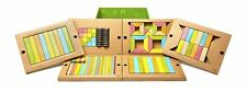 130 Piece Tegu Classroom Magnetic Wooden Block Set, Tints Tegu Tints