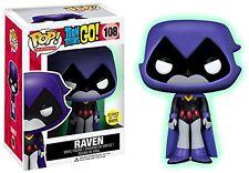 Funko - Figurine Dc Comics Teen Titans Go Raven Glow In The Dark Exclu Pop 10cm