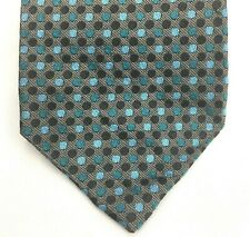 "Express Neck Tie Circle Dot Pattern Gray Blue 100% Silk Mens 3.75"" Wide"