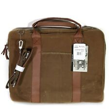 3e6ad598dea7 NWT Dopp Gear Bag Slim Messenger Weather Resistant Tan Oiled Canvas  Briefcase