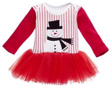 Ganz Weihnachten Baby Mädchen Schneemann Rot Windel Hemd Crawler Tutu 0-6 Monate