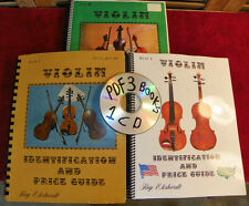 Roy Ehrhardt Estate CD PDF Violin Identification & Price Guide #1- #2- #3  Books