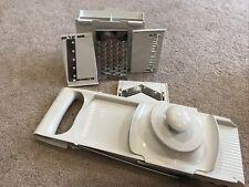 Pampered Chef Ultimate Mandoline Slicer Grater Processor w/Blades 1087