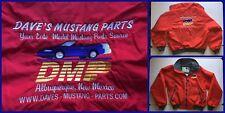 Daves FORD MUSTANG Vintage 80s Cherry Red Mechanic Garage Bomber Jacket Men's M