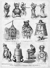 Verhör, Folter, Inquisition, Hexe, Werkzeuge 2, Original-Holzstich von 1881