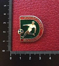 USSR Pin Russia Soviet Badge. Football Club ZHALGIRIS Vilnius. ЖАЛЬГИРИС ВИЛЬНЮС