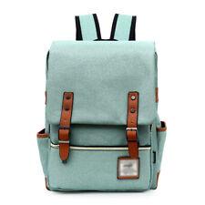 Women's Canvas Satchel Rucksack Laptop School Bag Travel Backpack Unisex