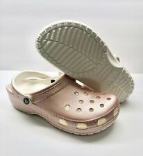Crocs Classic Metallic Clogs, Men's Size 9, Women's Size 11 Rose Gold New w/tags