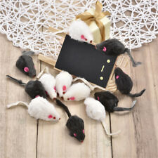 12pcs/Set Fur Mouse Sound Rat Mice Toy For Cat Kitten Puppy Pet Play Toys Lots