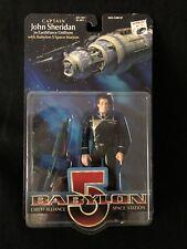 Babylon 5 John Sheridan Action Figure New in Box with Space Station EarthForce