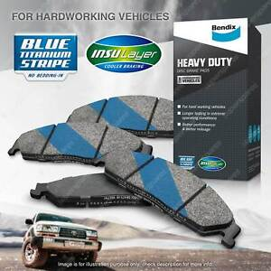 4x Bendix Front HD Brake Pads for Land Rover Range Rover Sport L320 2.7 4.4 132