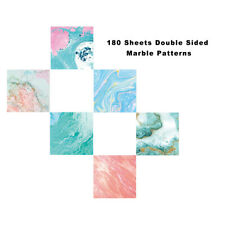 Origami Paper 180 Sheets Craft Folding Paper Marble Pattern Premium Quality